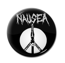 "Nausea - Crucifix 1"" Pin"