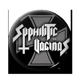 """Syphilitic Vaginas - Logo 1"""" Pin"""