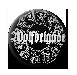 """Wolfbrigade - Skull Ring 1"""" Pin"""