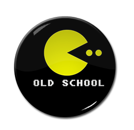 "Pac-Man - Old School 1.5"" Pin"
