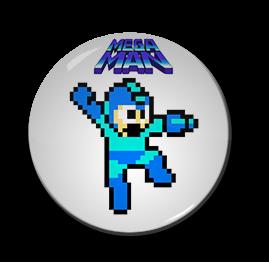 "Mega Man - 8bit 1.5"" Pin"