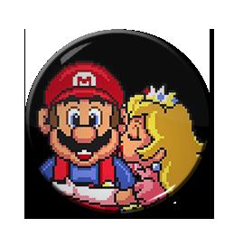 "Mario and Princess Peach 1.5"" Pin"