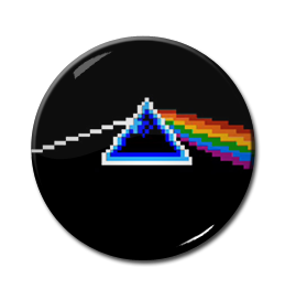 "8-Bit Pink Floyd - Dark Side of the Moon 1.5"" Pin"