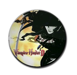 "Vampire Hunter D - D 1.5"" Pin"