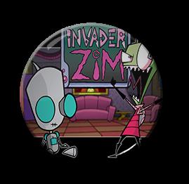 """Invader Zim - Gir & Zim 1.5"""" Pin"""
