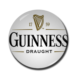 "Guinness Draught White 1.5"" Pin"