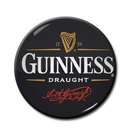 "Guinness Draught 1.5"" Pin"