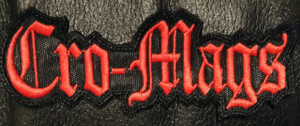 "Cro-Mags - Logo 4.5x1.5"" Embroidered Patch"