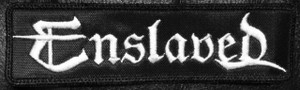 "Enslaved - Logo 5x1.5"" Embroidered Patch"