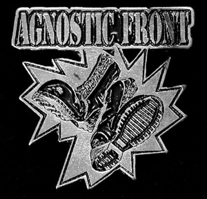 "Agnostic Front - Logo 2"" Metal Badge Pin"