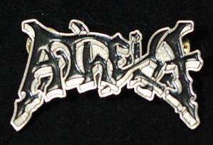"""Atheist - Logo 2"""" Metal Badge Pin"""