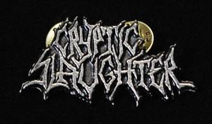 """Cryptic Slaughter - Logo 2"""" Metal Badge Pin"""