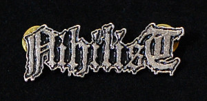 "Nihilist - Logo 2"" Metal Badge Pin"