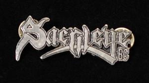 "Sacrilege B.C. - Logo 2"" Metal Badge Pin"