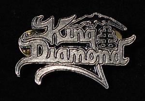 """King Diamond - Logo 2"""" Metal Badge Pin"""