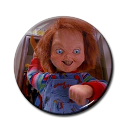 """Child's Play - Chucky Attack 1.5"""" Pin"""
