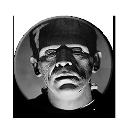 "Frankenstein - Shadowy Face 1.5"" Pin"