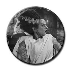 "Bride of Frankenstein 1.5"" Pin"