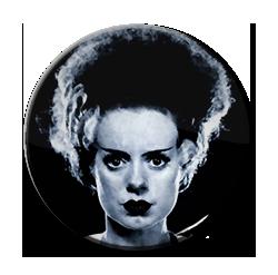 "Bride of Frankenstein - Face 1.5"" Pin"