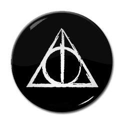 """Harry Potter and the Deathly Hallows 1.5"""" Pin"""
