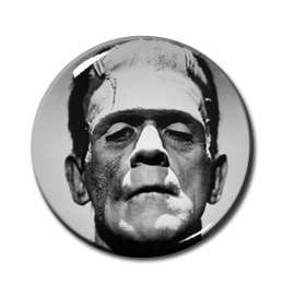 "Frankenstein - Face 1.5"" Pin"