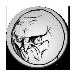 """NO. Rage Face 1.5"""" Pin"""