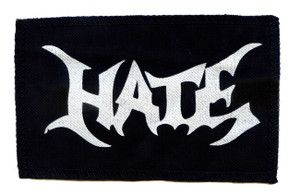 "Hate - Logo 6X4"" Printed Patch"