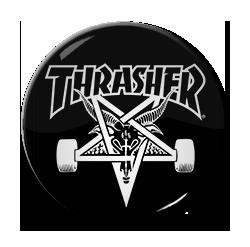 "Thrasher 1.5"" Pin"