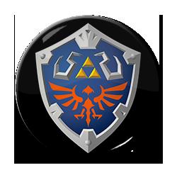 "SS Hylian Shield 1.5"" Pin"