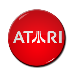 "Atari Red 1.5"" Pin"