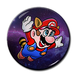 "Raccoon Mario 1.5"" Pin"