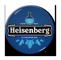 """Heisenberg - Heineken Logo 1.5"""" Pin"""