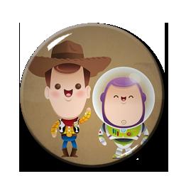 """Chibi Buzz & Woody 1.5"""" Pin"""