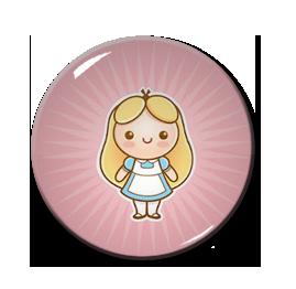 """Chibi Alice 1.5"""" Pin"""