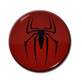 "Spiderman - Logo 1.5"" Pin"