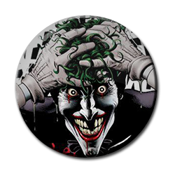 "The Joker - comic ilustration 1.5"" Pin"