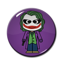 "Chibi Joker 1.5"" Pin"