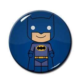 "Chibi Batman - Blue 1.5"" Pin"