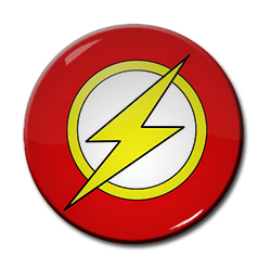 "The Flash - Comic Logo 1.5"" Pin"