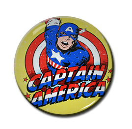 "Captain America - Face 1.5"" Pin"