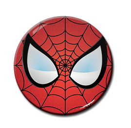 "Spiderman - Eyes 1.5"" Pin"