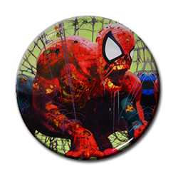 "Zombie Spiderman - Cobweb 1.5"" Pin"
