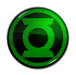 "Green Lantern Logo Black 1.5"" Pin"