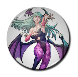 "Morrigan Aensland 1.5"" Pin"