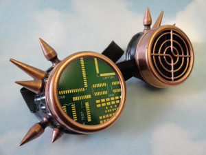 Goggles - Circuit Board w/Spikes