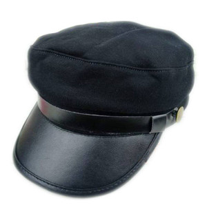 Military Style Kepi Hat in Black