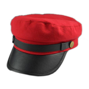 Military Style Kepi Hat in Red