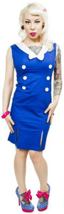 Sourpuss - Blue And White Sailor Dress