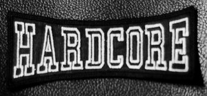 "Hardcore - Logo 4x1.5"" Embroidered Patch"