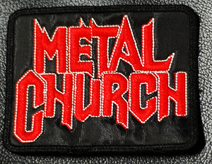 "Metal Church - Logo 4x3"" Embroidered Patch"